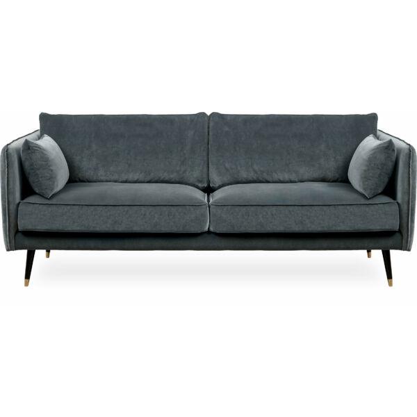 Simply 3 személyes kanapé, szürke bársony