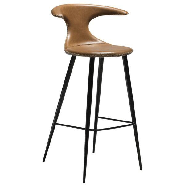 Flair design bárszék, vintage barna textilbőr