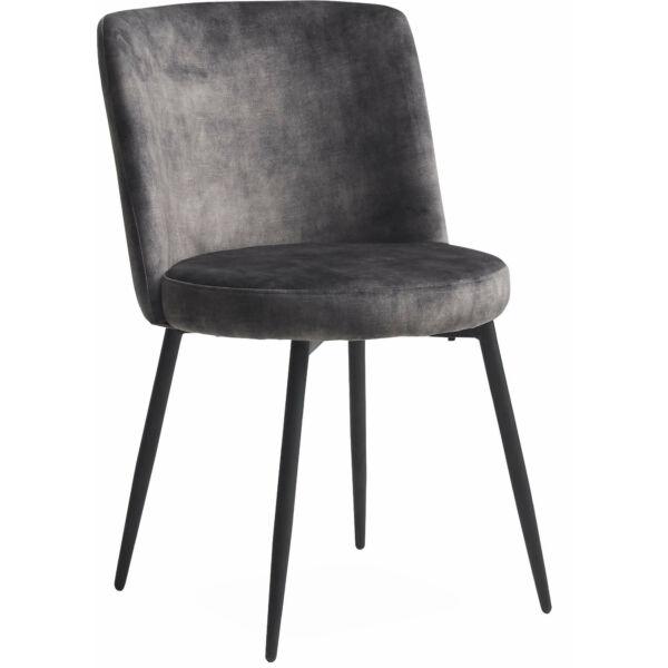 Bray design szék, sötétszürke velúr