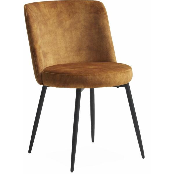 Bray szék, mustársárga velúr
