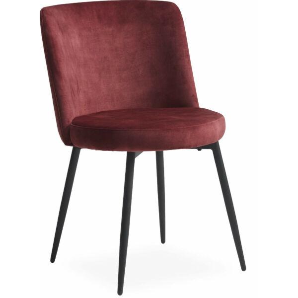 Bray szék, borvörös velúr
