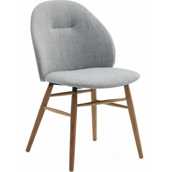 Ashton design szék, világosszürke szövet