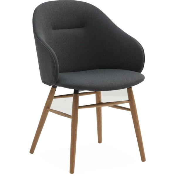 Ashton karfás design szék, sötétszürke szövet