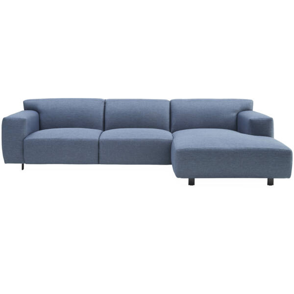 Siena jobb ottomános kanapé, kék szövet