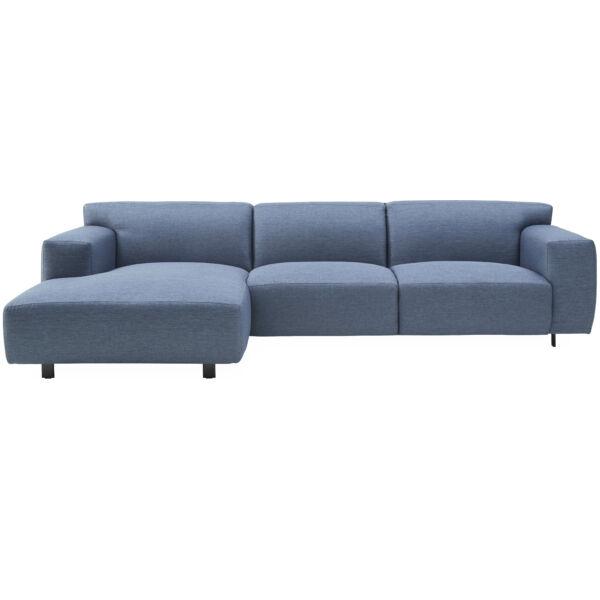 Siena bal ottomános kanapé, kék szövet