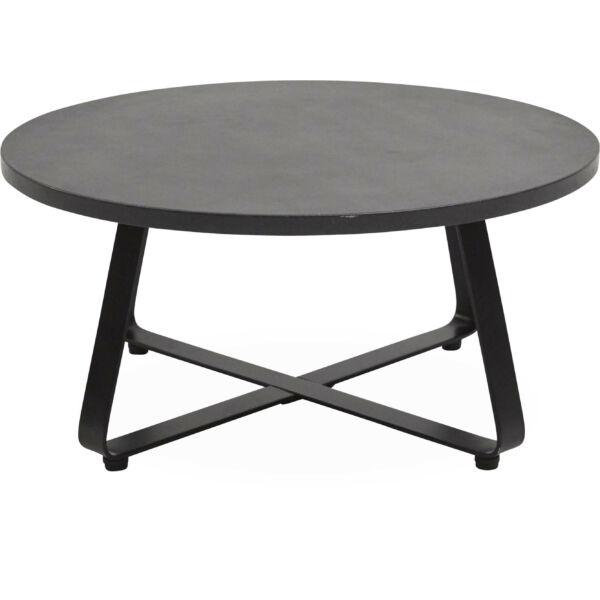 Milford kerti kisasztal, sötétszürke