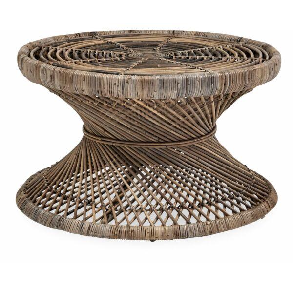 Ravenna kerti dohányzóasztal, világos rattan