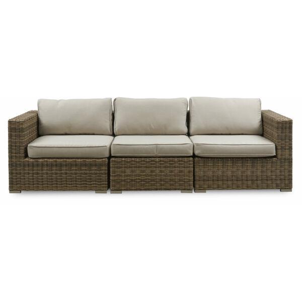 Calvi kerti 3 személyes kanapé, törtfehér