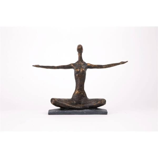 Yoga arms out szobor, antik bronz