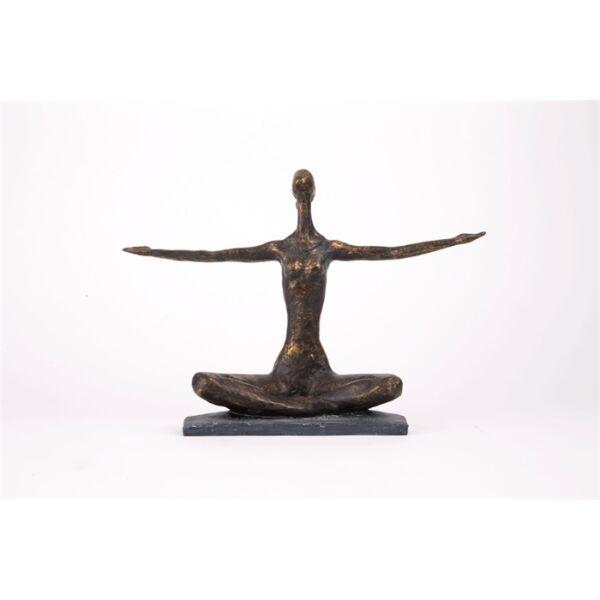 Yoga arms out szobor, antik bronz