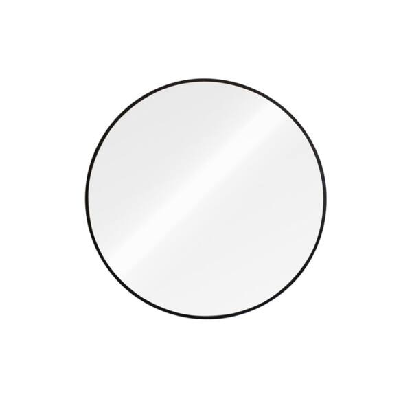 Stil Black Round tükör, fekete keret