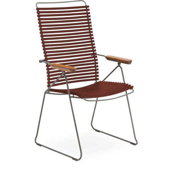 Click állítható kerti szék, paprika