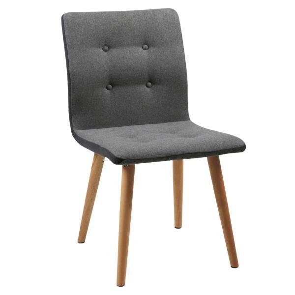 Frida szék, szürke szövet