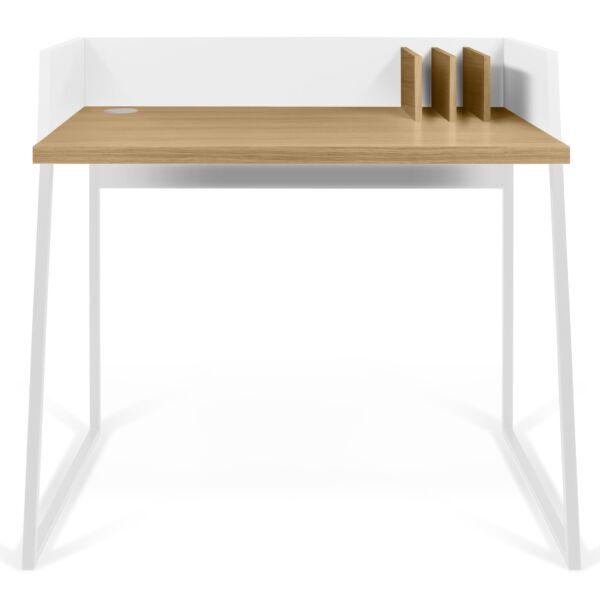 Volga íróasztal, tölgy/fehér