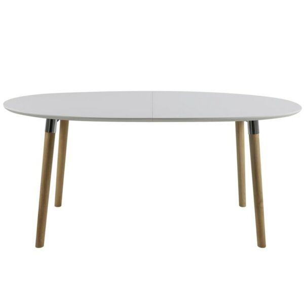 Belina étkezőasztal bővíthető, matt fehér