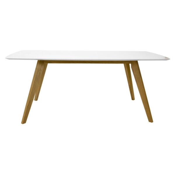 Bess étkezőasztal, fehér/tölgy, 185 cm