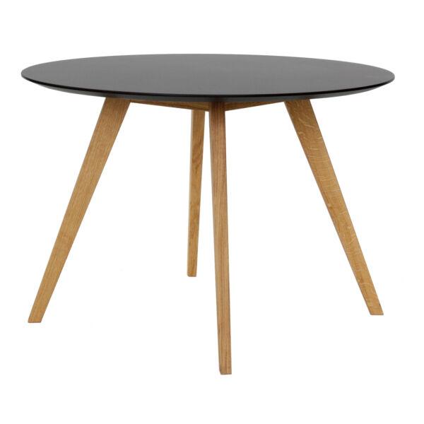 Bess étkezőasztal, fekete kerek, D110 cm