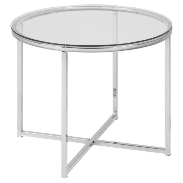 Cross lámpaasztal, átlátszó üveg