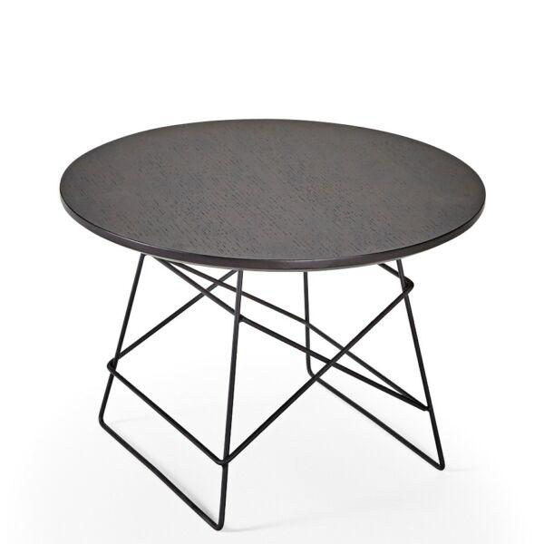 Grid dohányzóasztal, D45, fekete