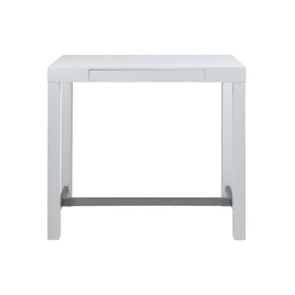 Angela bárasztal 130x60cm, magasfényű fehér