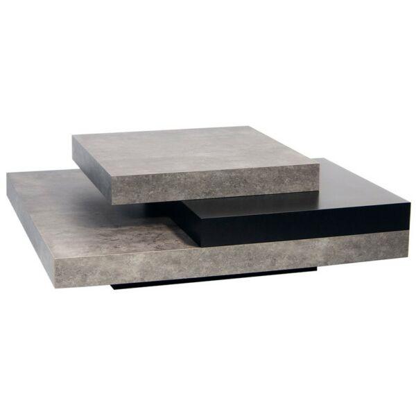 Slate dohányzóasztal, beton hatású melamin
