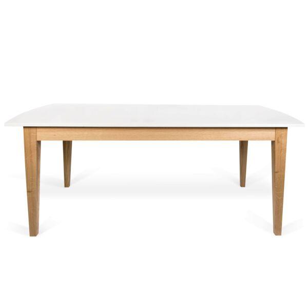 Niche bővíthető étkezőasztal, fehér/tölgy