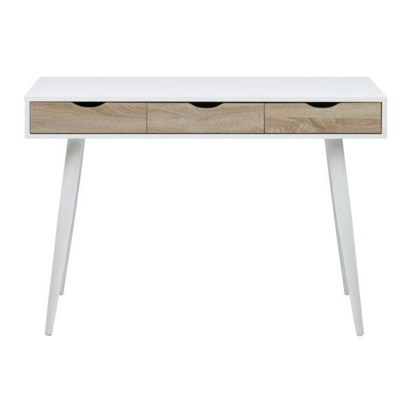 Neptun íróasztal tölgy/fehér, matt fehér