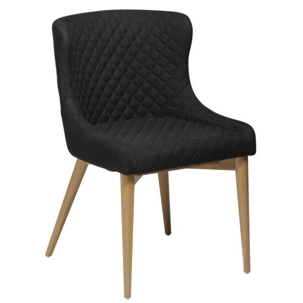 Vetro design szék, fekete szövet