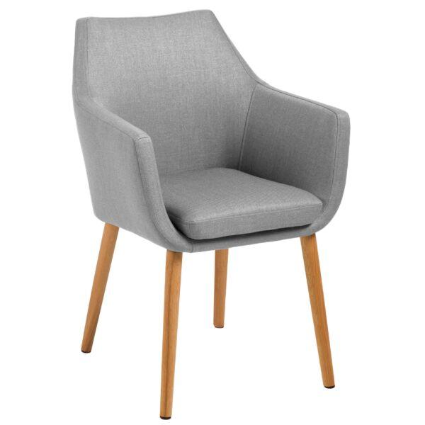 Flora szék, világosszürke szövet