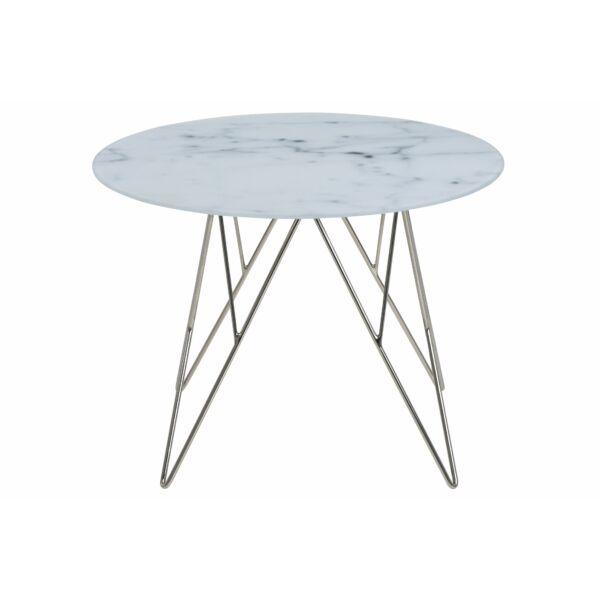 Prunus lámpaasztal márvány print/fém láb