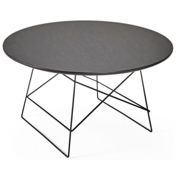 Grid dohányzóasztal, D70, fekete