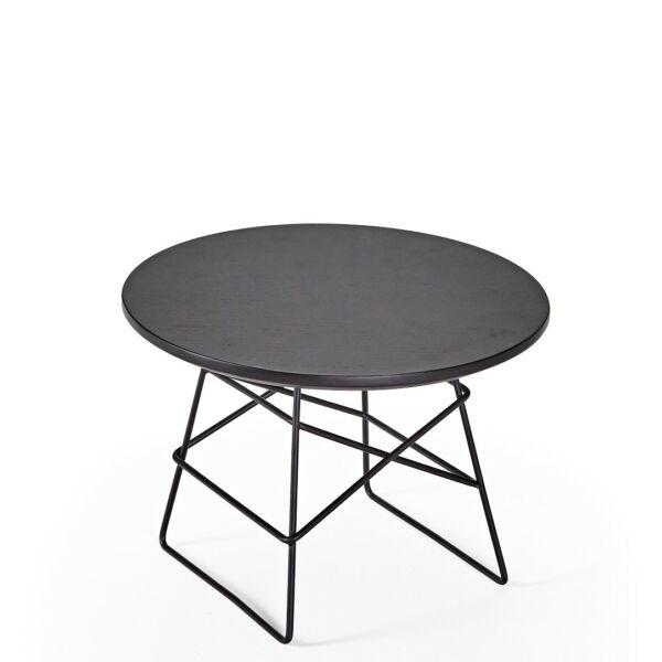 Grid dohányzóasztal, D35, fekete