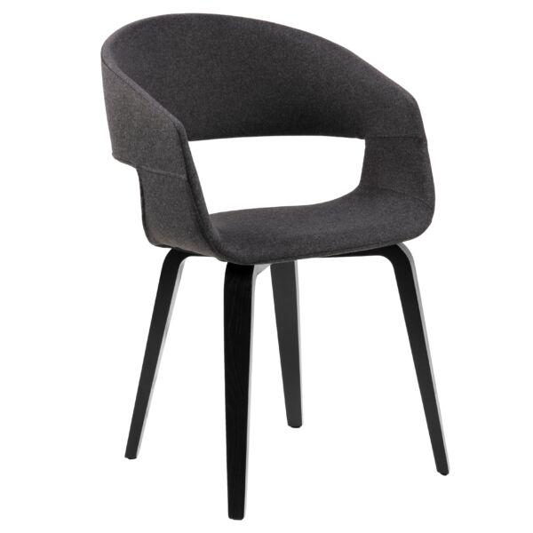 Nova szék, sötétszürke szövet, fekete láb