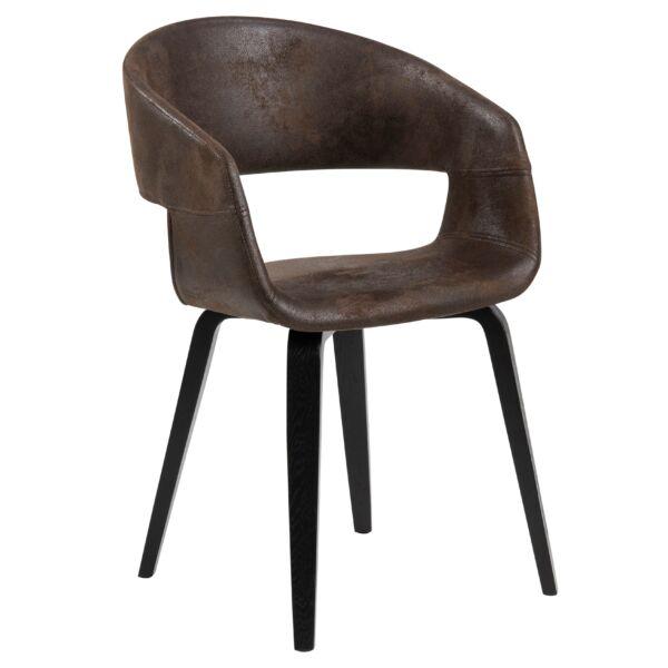 Nova design szék, barna textilbőr
