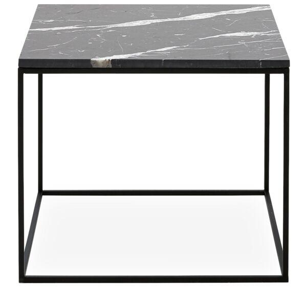 Square dohányzóasztal 50, fekete márvány