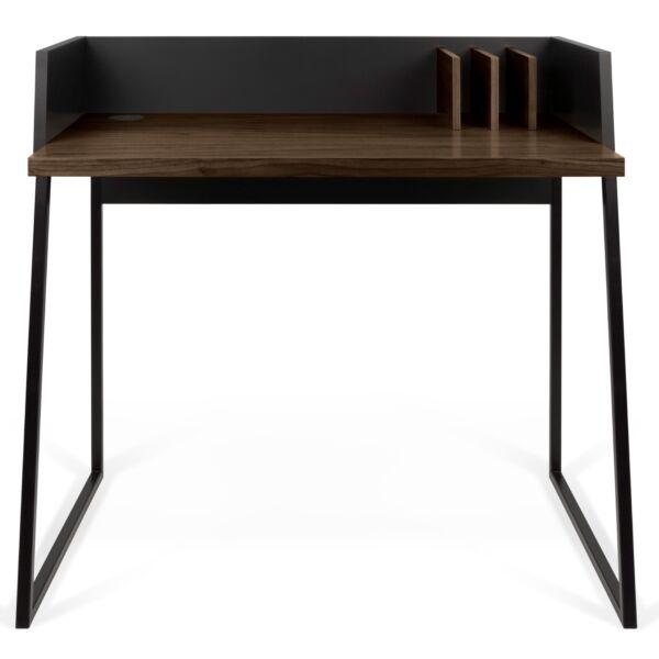 Volga íróasztal, dió/fekete