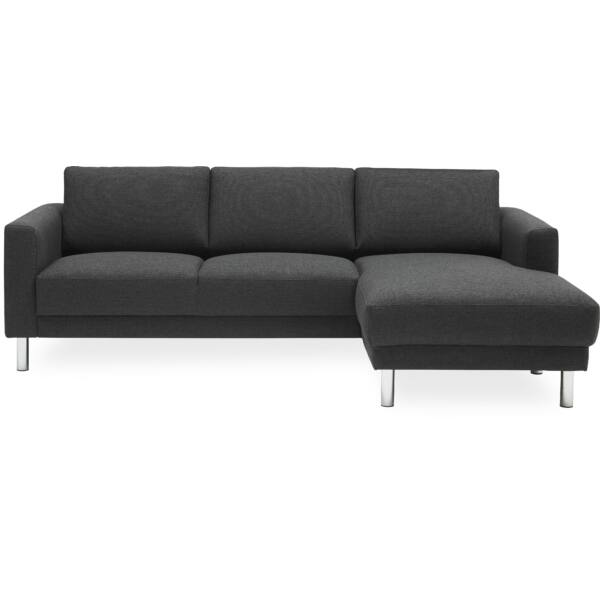 Cleveland kanapé jobbos ottománnal, antracit szövet
