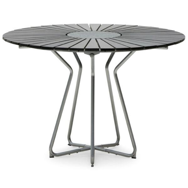 Circle asztal, fekete, D110 cm