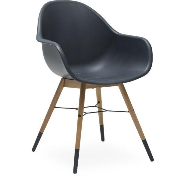 Copenhagen kerti szék, fekete, eukaliptusz láb