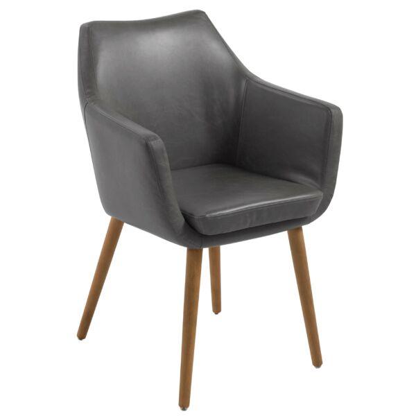 Flora design szék, szürke textilbőr
