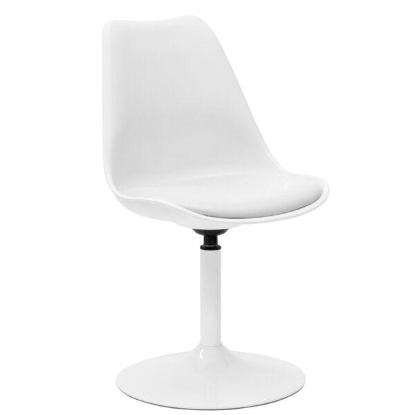 Viva design szék, fehér textilbőr