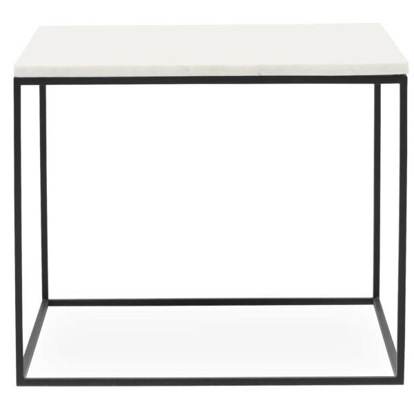 Square dohányzóasztal 50 x 50 cm fehér márvány