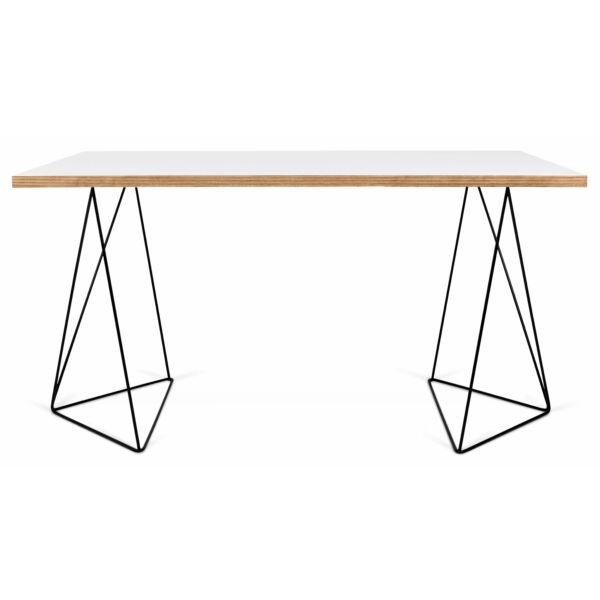 Flow asztal fehér/fekete láb