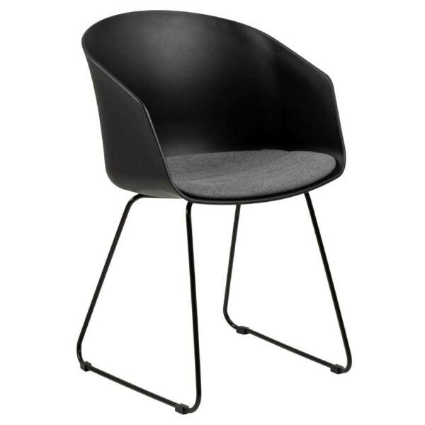 Bogart design szék, szürke szövet