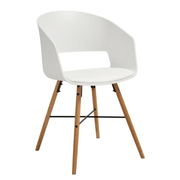 Cai design szék, fehér műanyag