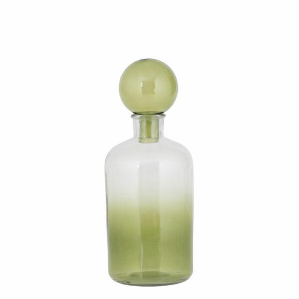 Üveg dugóval, zöld üveg