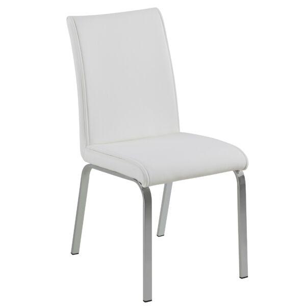 Leonora design szék, fehér textilbőr