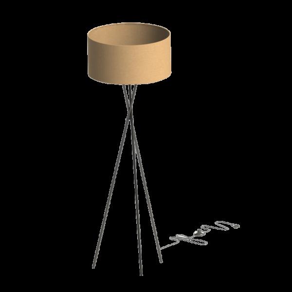 Fondachelli állólámpa, nikkel/fehér