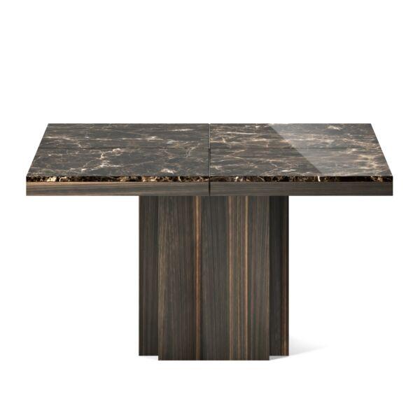 Dusk étkezőasztal, barna márvány, 130 cm