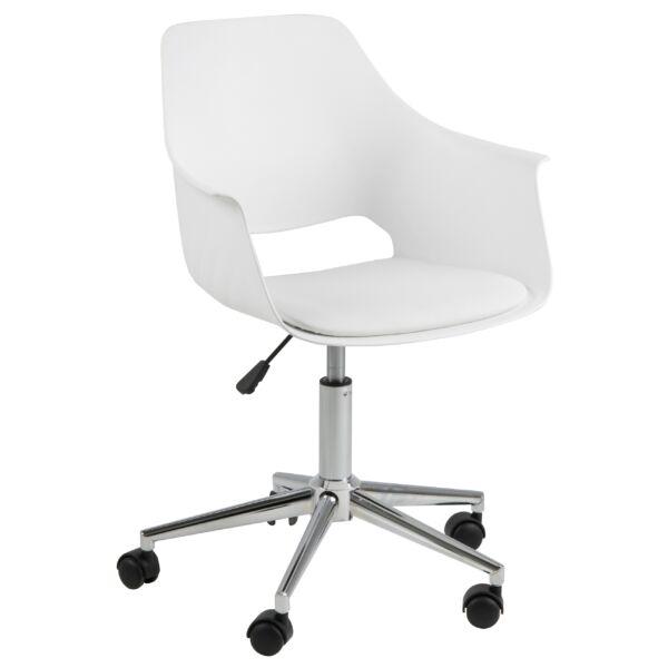 Ramona irodai design szék, fehér műanyag